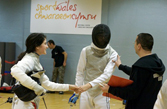 Russell Swords members at the Welsh Youth Fencing Qualifier Championships 2011 in Cardiff